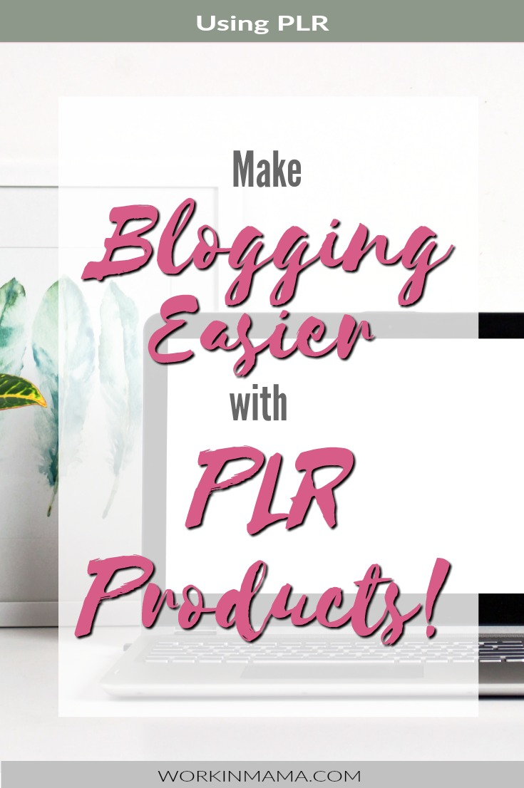 Make Blogging Easier with PLR Products