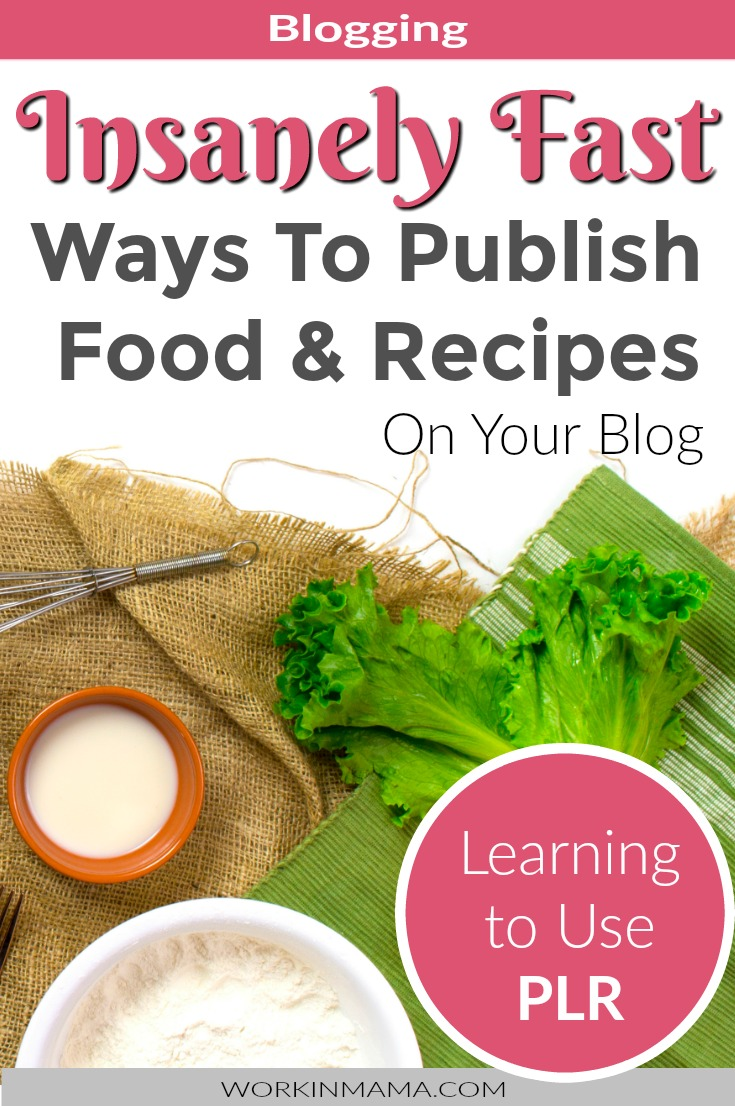 The best food plr ive found work in mama food plr private label rights content plr is content that is already done for you it can be anything from blog post to tweets to videos forumfinder Gallery