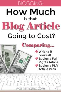 How Much is That Blog Article Going to Cost?