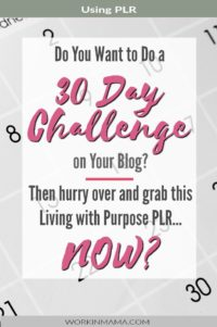 Living with Purpose 30 Day Challenge PLR