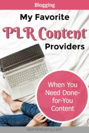 My Favorite PLR Content Providers