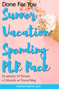 Summer Vacation Spending PLR – Done for Your Content