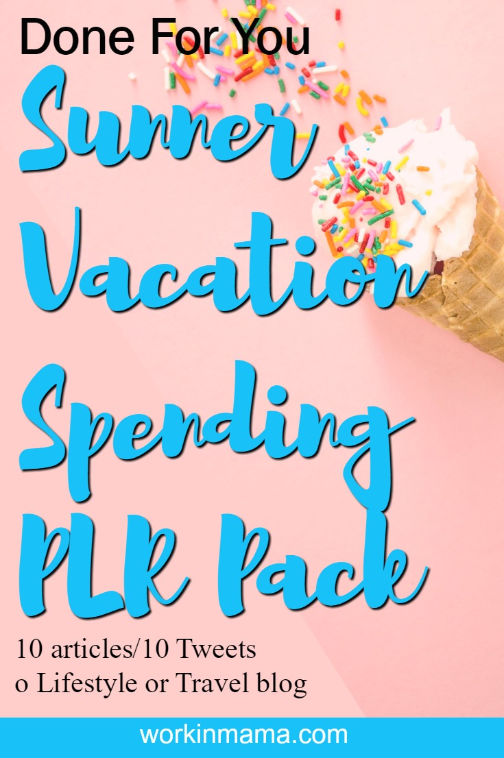 summper vacation plr