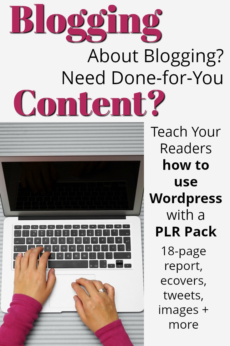 Wordpress PLR Done For You Content